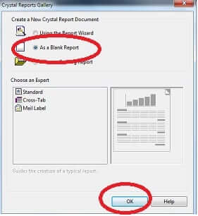 Crystal Report Wizard
