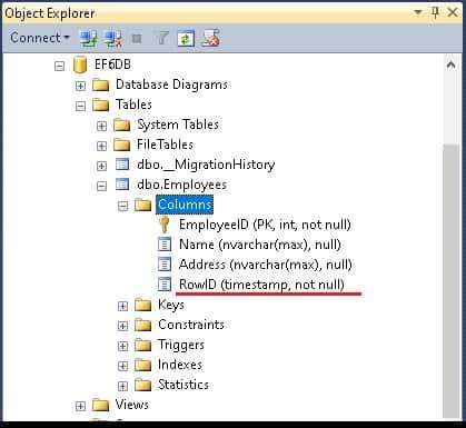Timestamp Attribute in Entity Framework
