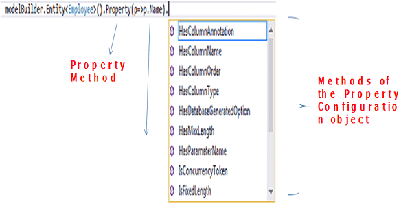 Entity Type Property Configuration