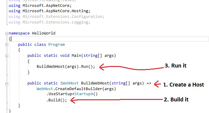 Program.cs in ASP.NET Core Applications