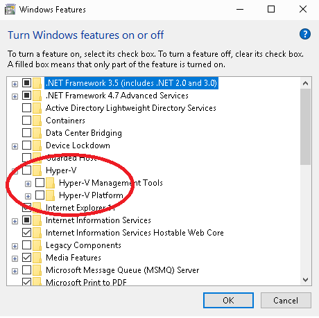 Disable Hyper-V in Windows