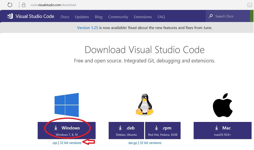 Download Visual Studio Code