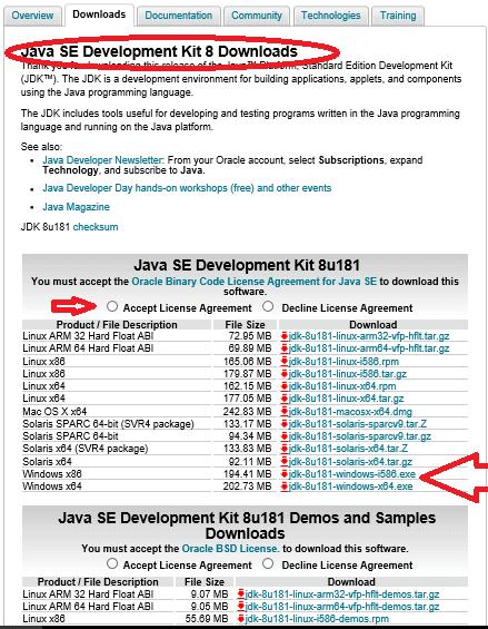Download Windows Installer for JDK 8