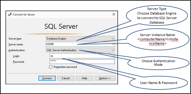Connect to SQL Server Using SQL Server Authentication