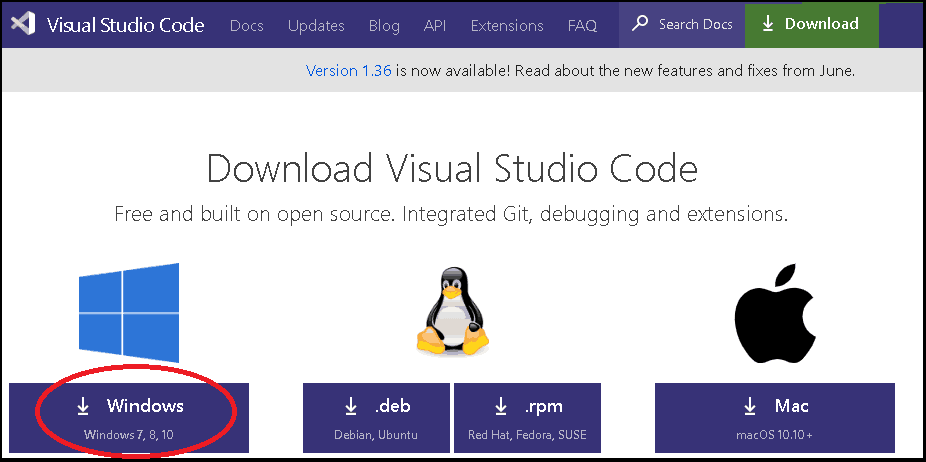 Download and install visual studio code