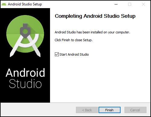 Android Studio Installation Complete