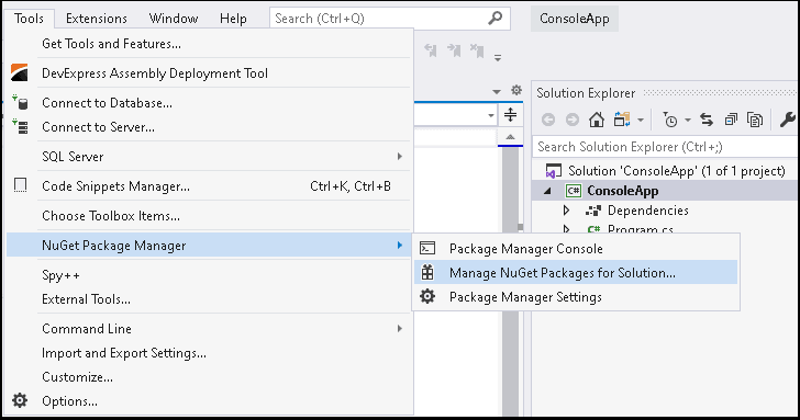Manage Nuget Packages for Solutions
