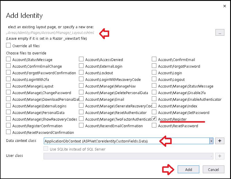 Add Identity for Custom Fields in IdentityUser